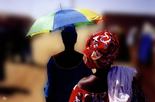 Photograph - Senegal Sunbrella No 2 by Wayne King