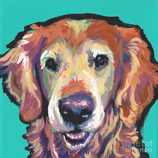 Golden Retriever Painting - Senior And Golden by Lea S