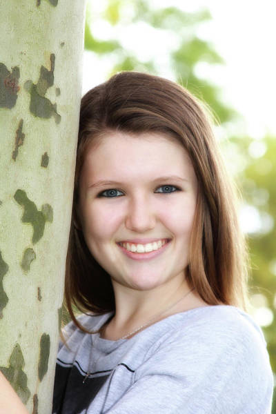Photograph - Senior Portrait By The Birch Tree by Trina Ansel
