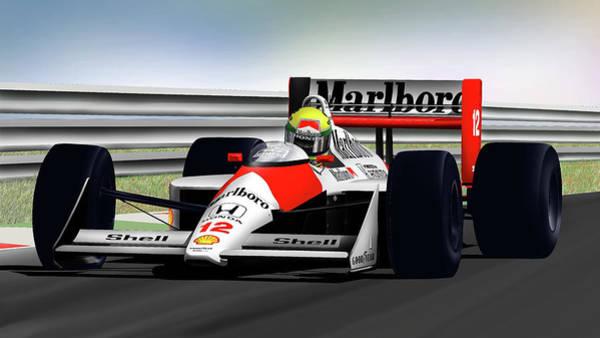 Wall Art - Digital Art - Senna's Pace by Lyle Brown