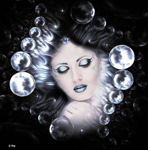 Faded Mixed Media - Sensual Bubbles 02 by G Berry