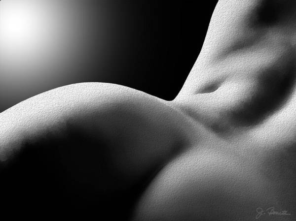 Monochrome Digital Art - Sensual Sinuosity by Joe Bonita