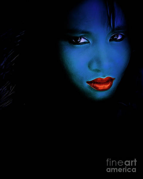 Digital Art - Blue Seduction by Edmund Nagele