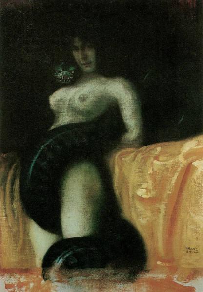 Franz Von Stuck Painting - Sensuality by Franz Von Stuck