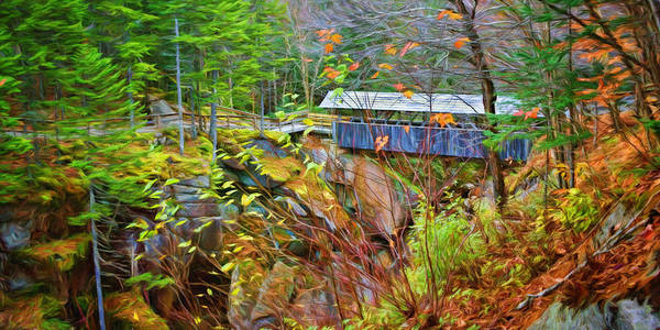 Pemigewasset River Wall Art - Photograph - Sentinel Pine - Covered Bridge by Nikolyn McDonald