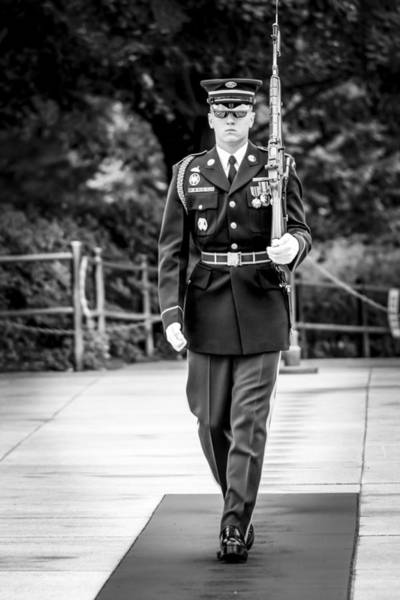 Photograph - Sentinel At The Tomb Of The Unknowns by David Morefield