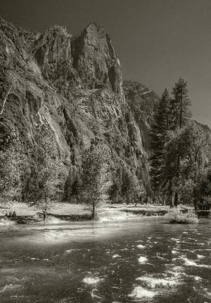 Photograph - Sentinel Dome Over Merced River by Michael Kirk