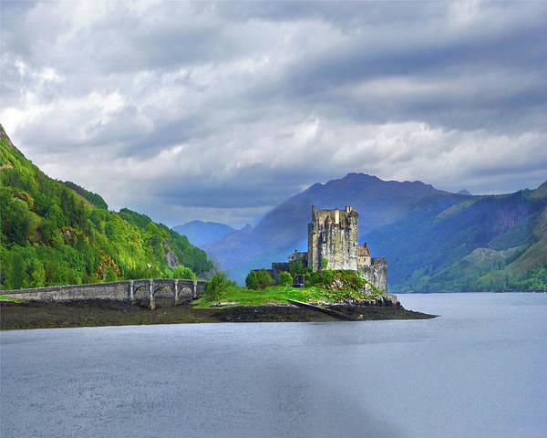 Eilean Donan Castle Digital Art - Sentinel Of The Loch by Vicki Lea Eggen