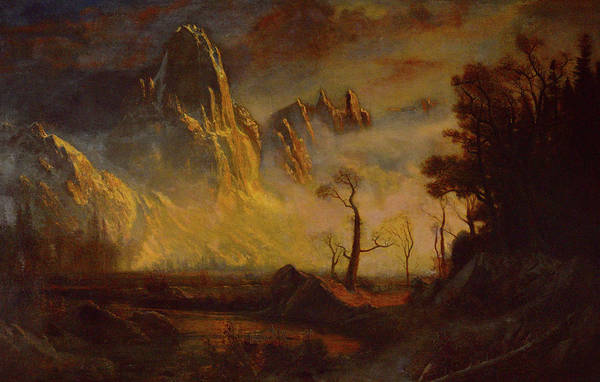 Dome Painting - Sentinel Rock by Albert Bierstadt