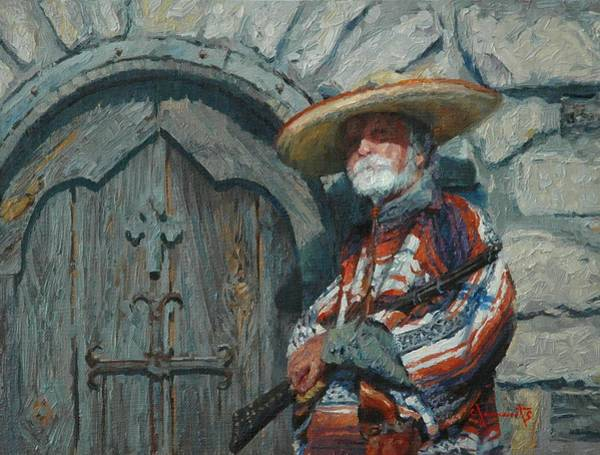 Sombrero Painting - Sentry by Jim Clements