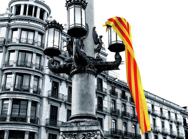 Photograph - Senyera Fusion Barcelona by John Rizzuto