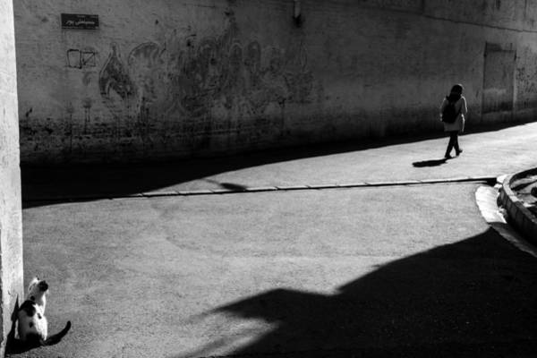 Street Photograph - Separation by Iman Samady