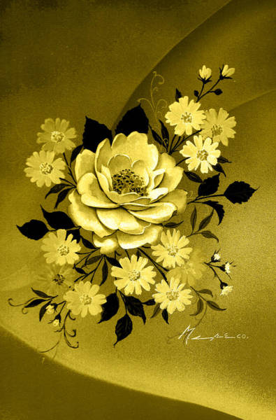 Sepia Bouquet Art Print