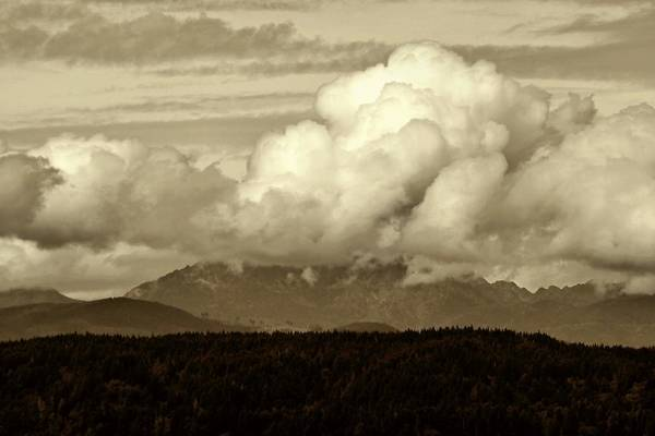 Photograph - Sepia Cloudscape by Patricia Strand