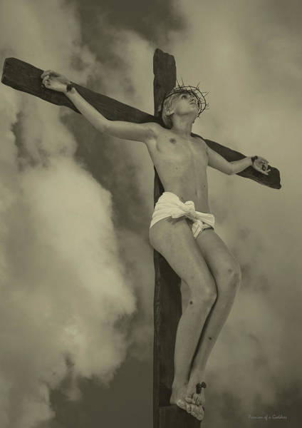 Wall Art - Photograph - Sepia Old Crucifix I by Ramon Martinez