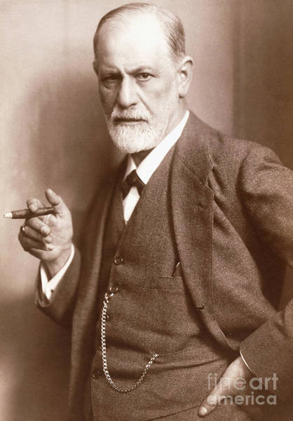 Wall Art - Photograph - Sepia Photograph Of Sigmund Freud, Circa 1921  by Max Halberstadt
