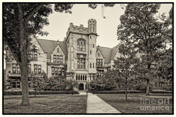 Photograph - Sepia Photograph Of The University Of Chicago Ryerson Physical Laboratory - Chicago Illinois  by Silvio Ligutti