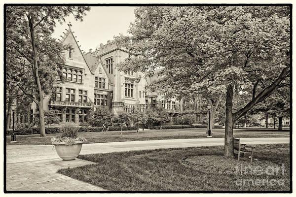 Photograph - Sepia Photograph Of The University Of Chicago Ryerson Physical Laboratory II - Chicago Illinois  by Silvio Ligutti