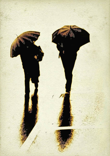 Digital Art - Sepia Rain by Cameron Wood