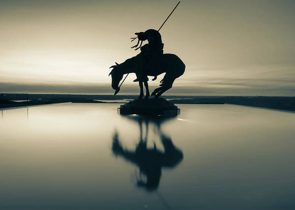 Photograph - Sepia Silhouette Reflections Of Native America - Top Of The Rock Missouri by Gregory Ballos
