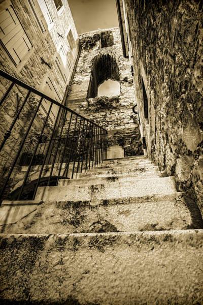 Photograph - Sepia Tone Croatian Stairs by Sven Brogren