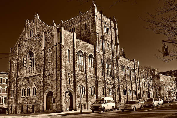 Photograph - Sepia Toned Building In Harlem by Val Black Russian Tourchin