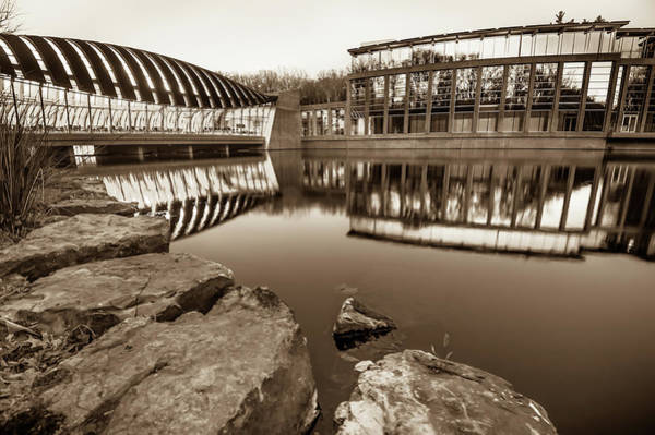 Photograph - Sepia Toned Crystal Bridges Museum Reflections by Gregory Ballos