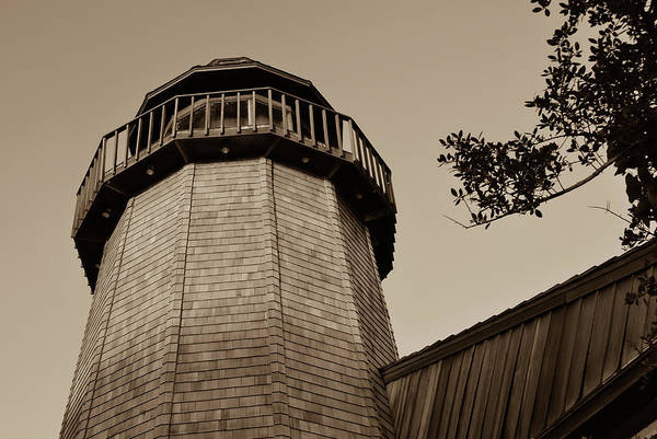 Photograph - Sepia Vintage Lighthouse by Gregory Ballos