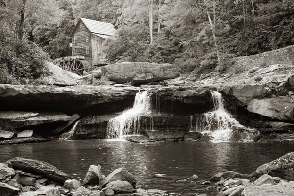 Photograph - Sepia Waterfalls At Glade Creek Mill - West Virginia by Gregory Ballos