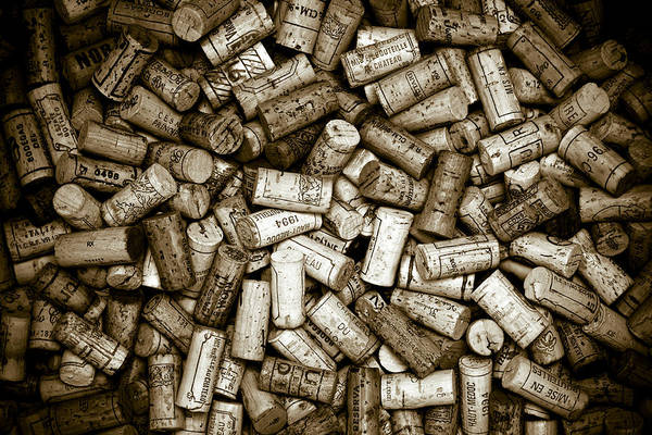 Wall Art - Photograph - Sepia Wine Corks by Frank Tschakert