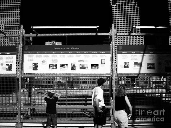 Wall Art - Photograph - September 11 2001 Timeline by John Rizzuto