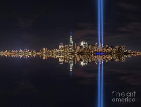 September Photograph - September 11th Manhattan Reflections by Michael Ver Sprill
