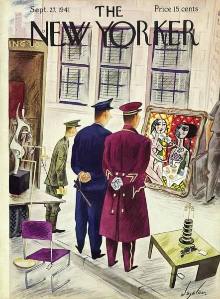 Uniform Painting - September 27 1941 by Constantin Alajalov