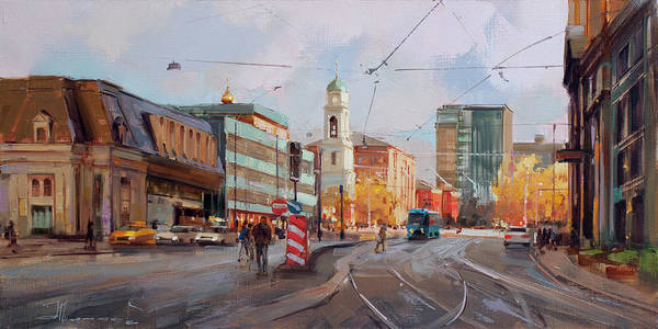 Railway Painting - September Is A Couturier. Dubininskaya Str. by Alexey Shalaev