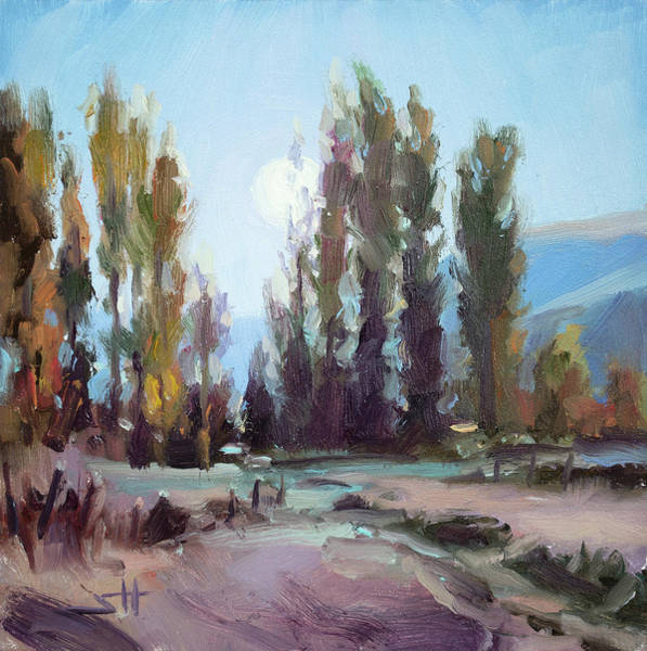 Wall Art - Painting - September Moon by Steve Henderson