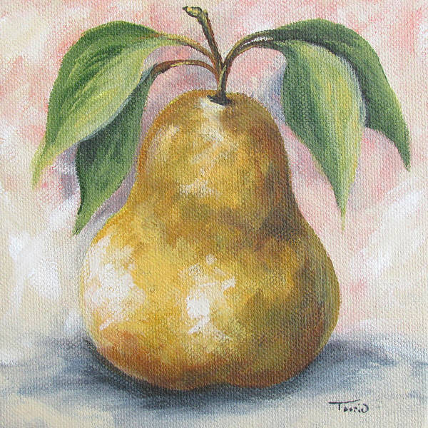 Wall Art - Painting - September Pear I  by Torrie Smiley