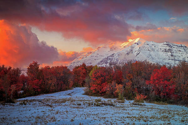 Awe Photograph - September Snow by Johnny Adolphson