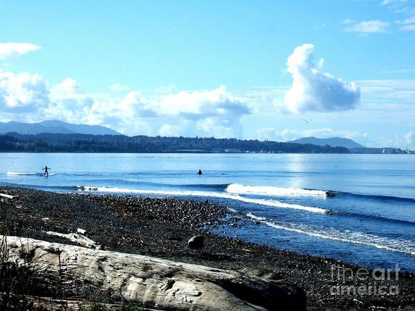 Photograph - September Surfers In The Pacific Northwest  by Delores Malcomson
