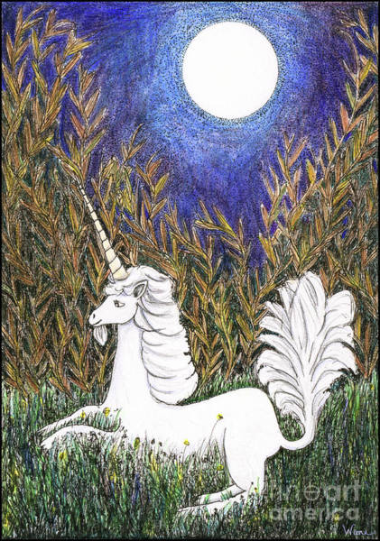 Painting - September Unicorn by Lise Winne