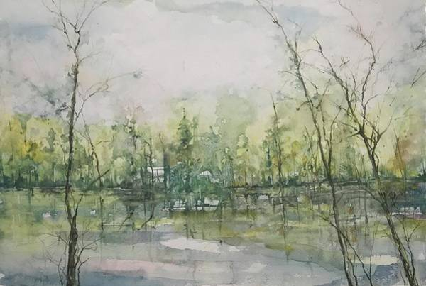 Painting - Septembers Morning On The River by Robin Miller-Bookhout