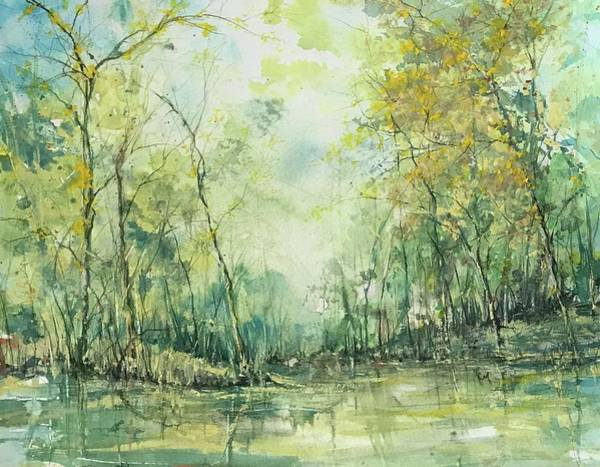 Painting - September's Silence  by Robin Miller-Bookhout