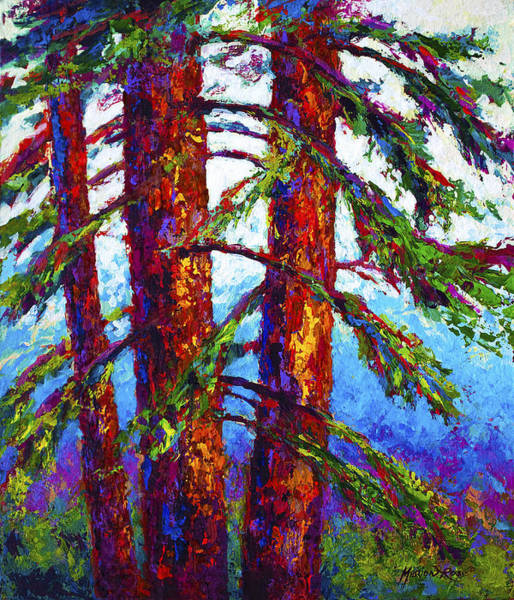 Scenic Landscape Painting - Sequoia by Marion Rose