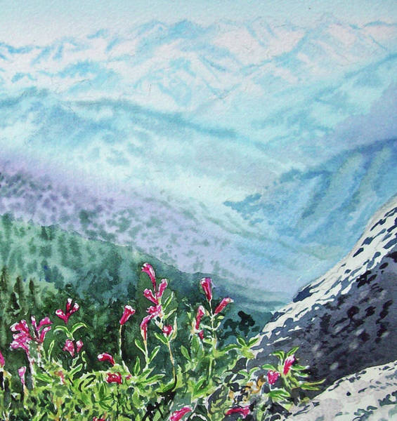 Painting - Sequoia Mountains by Irina Sztukowski