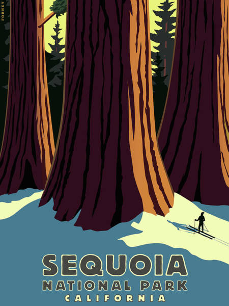Hiking Digital Art - Sequoia National Park Big Trees by Steve Forney