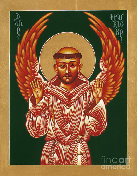 Painting - Seraphic Father Francis 031 by William Hart McNichols