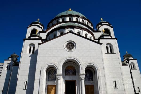 Photograph - Serb Orthodox Cathedral Church Of St Sava Belgrade Serbia by Imran Ahmed