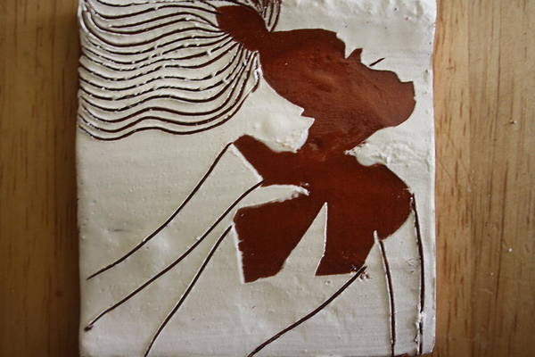 Ceramic Art - Serena - Tile by Gloria Ssali