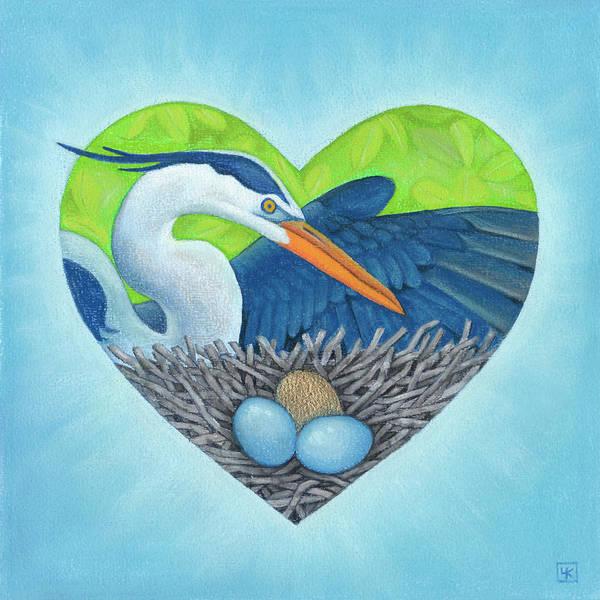 Heron Mixed Media - Serena by Lisa Kretchman