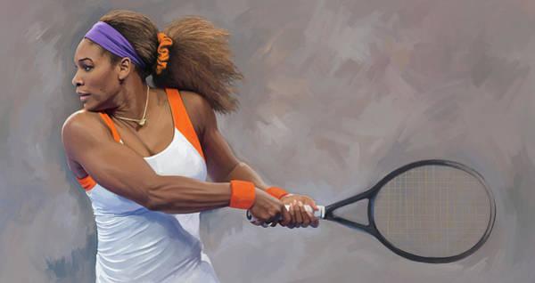 Wall Art - Painting - Serena Williams Artwork by Sheraz A
