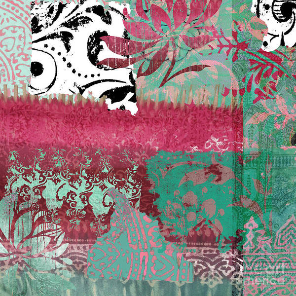 Tapestries Textiles Wall Art - Painting - Serendipity Damask Batik I by Mindy Sommers